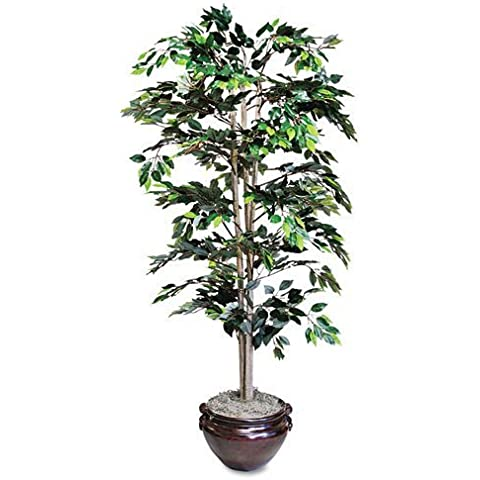 Nu-Dell - Artificial Ficus Tree, 6-ft. Overall Height - Sold As 1 Each - Soft, flowing leaves add a touch of color to any space. by NU-DELL MANUFACTURING - Ficus Tree Leaves
