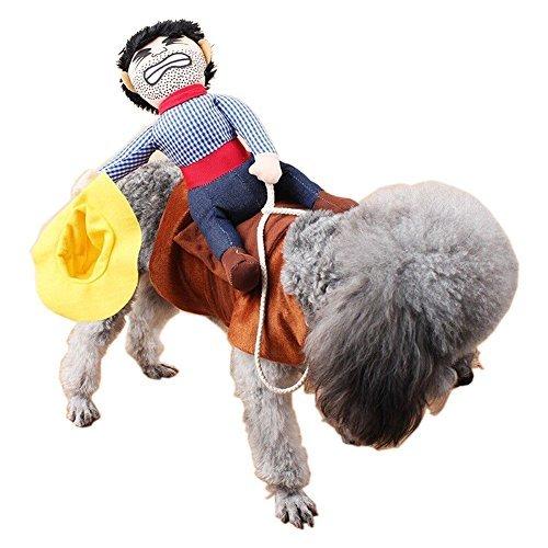 PetIsay Funny Pet Hund Katze West Cowboy, Reiten Pferd, Gitarre Stil, Kostüm, für für Wochenende Party Cosplay Geburtstag Halloween Christmas Special Events, M, Riding Horse