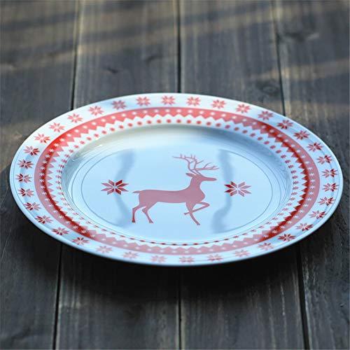 YUWANW Kreative Persönlichkeit Gericht japanischen Stil Keramik underglaze Farbe Platte Platte Scheibe süße Katze Suppenteller (blau) 8 Zoll Aristocats Scheiben (single)