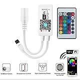 SUBOSI Mini RGBWW/RGBCW Led Streifen Kontroller mit Alexa,Wifi/App gesteuert,Fernbedienung Steuerung Controller Arbeiten,16 Millionen Farben,20 Dynamische Modi,Sound Aktiviert, Statische Farbwechsel