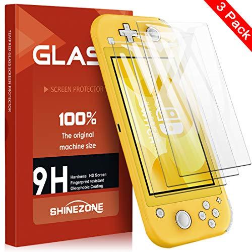 SHINEZONE Panzerglas Schutzfolie für Nintendo Switch Lite, (3 Stück) Ultra Dünn, Vollbild-Abdeckung, [9H] Härte, Anti-Kratzen, Nintendo Switch Lite Schutzfolie HD Ultra Klar Blasenfrei