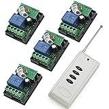 RF 12 V un transmisor con 4X 1 relés inteligente Control remoto inalámbrico canal interruptor con transmisor
