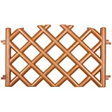 Terracotta 3.5 m long plastic garden picket fence, 4 colours