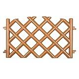 Steccato recinzione da giardino Terracotta 3,5 m di lunghezza di plastica resistente