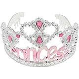 Tiara de Princesa Banda Pelo Corona para Cabeza Cabello Accesorios Traje Partido Plástico - 6
