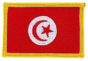 Patch écusson brodé drapeau tunisie tunisien flag thermocollant insigne blason