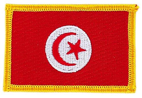 Toppa ricamata bandiera tunisia tunisino flag thermocollant insigne stemma
