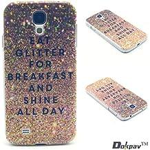 Dokpav® Carcasas de Samsung Glaxy S4 Caso Case, Funda del Teléfono Celular Delgado y Elegante con Material de TPU Suave para Samsung Glaxy S4 (purpurina)