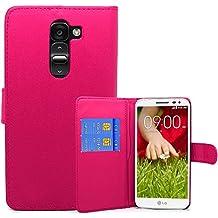 Maestro de cuero del carcasa de accesorios carcasa en folio de la PU para LG G2 Mini Rose
