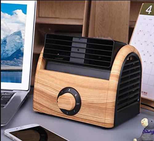 Mini Portátil Ventilador Ventilador Sin Escobillas De Tres Velocidades Ventilador De Refrigeración De Ajuste De Escritorio Pequeño Ventilador De Escritorio (Color : A)