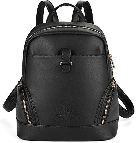 Rucksack Damen, Fanspack Elegant PU Lederrucksack Damen Großer Kapazität für Outdoor Schulrucksack Damen