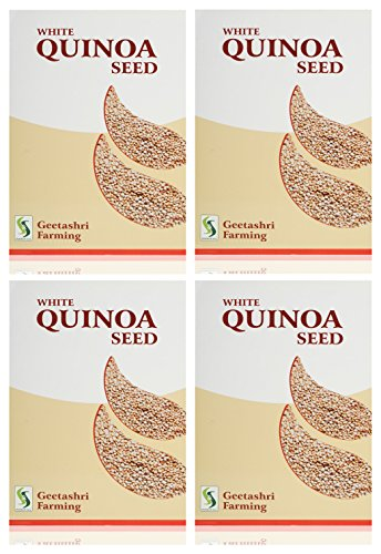 Geetashri Farming White Quinoa Seed, 1 Kg (Pack Of 4) For Cultivation Only