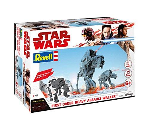 Revell Build & Play - Star Wars First Order Heavy Assault Walker - 06761, Maßstab 1:164, originalgetreue Nachbildung mit beweglichen Teilen, mit Light&Sound Effekten, robust zum (Walker Starwars)