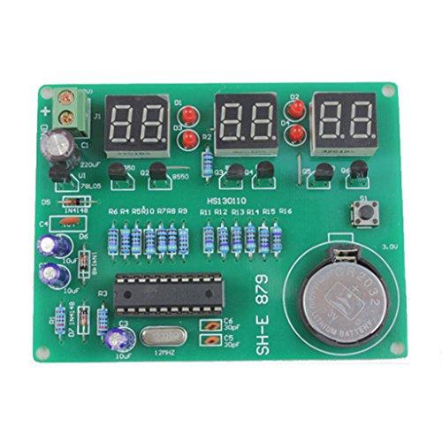 Gaoxing Tech. DIY kit módulo 9V-12V AT89C2051 6 Digital LED reloj electrónico componentes de piezas
