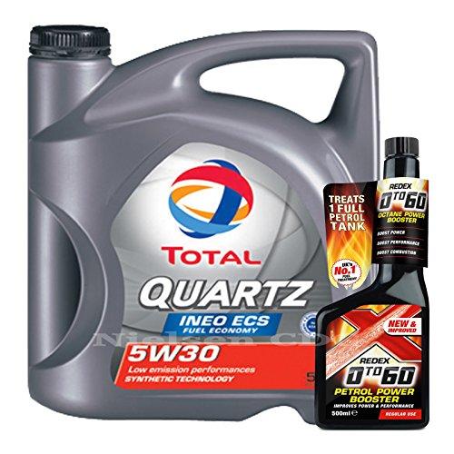 total-quartz-ineo-ecs-5w30-engine-oil-5l-redex-petrol-0-to-60-octane-booster-500ml