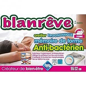 Blanreve - BLANREVE Oreiller Ergonomique Mémoire de Forme 55