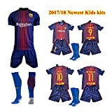Barcelona 2017-18 Youths Home Kit Shirt & Shorts & Socks - *REPLICA * (HOME MESSI, 24 (8/9 YEARS))