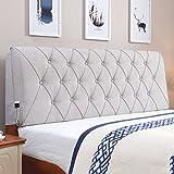QiangDa Rückenlehne Bett Kissen Bettkissen Rückenlehne Stützkissen Bettwäsche Aus Baumwolle Atmungsaktivität Für Einzelnes Doppelbett, 4 Farben, 6 Größen Wahlweise ( Farbe : Hellgrau , größe : 120 x 10 x 60cm )