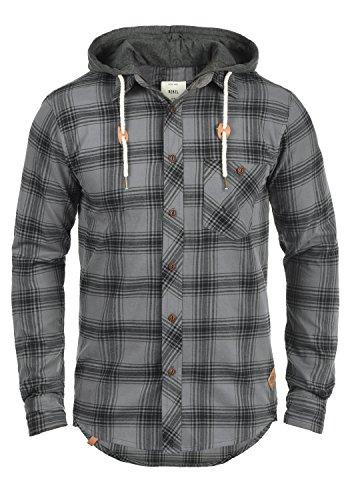 Redefined rebel meier - camicia die flanella da uomo, taglia:l;colore:antracit grey
