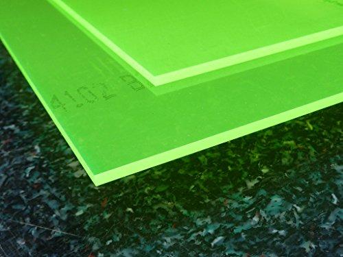 Platte Acrylglas GS, 500 x 500 x 3 mm, Fluoreszierend grün Zuschnitt alt-intech® - 3