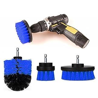 ONEVER 3PCS Drill Scrubber Brush Power Full Electric Cerda Bathet Tile Grout Cleaner