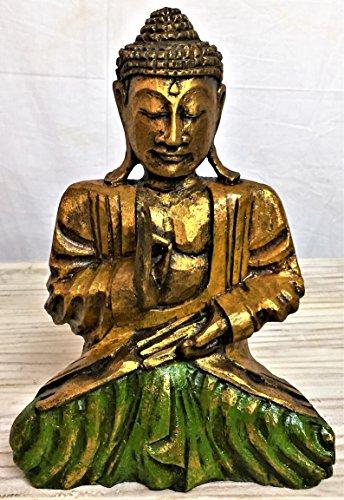 Escultura Buda madera estatua etnica Budda arredamento