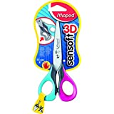 Maped Sensoft Left Handed Scissors with Flexible Handles 5 Inch, Assorted Colors (693500)