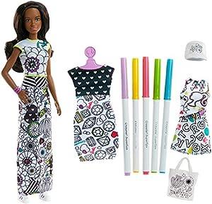 Barbie- Muñeca Crayola, Moda mil Colores Morena, Multicolor (Mattel FPH91)