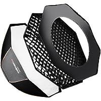 Walimex Pro Octagon Softbox Plus (Orange Line, 120 cm Durchmesser, Auroa/Bowens)