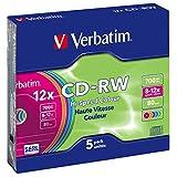 Verbatim CD-RW 80MIN Datalife PLUS - Confezione da 5