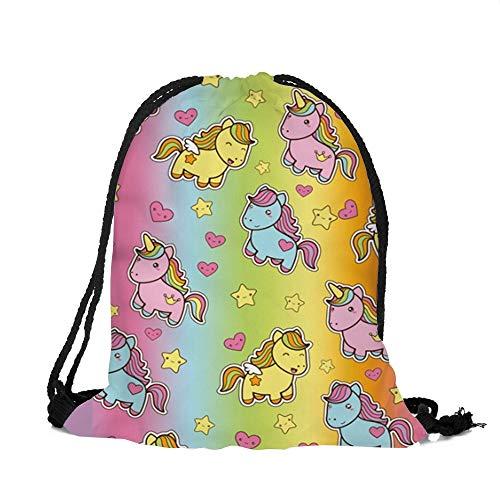 DAMENGXIANG Mode Unisex Kordelzug Rucksack Sporttasche Rucksack Für Erwachsene Und Kinder Sport Große Tasche Taschen Stil 3