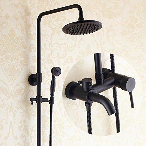 MQHY - Schwarz Antik Kupfer Duschsets kann nach oben und unten die Dusche Dusche System für Badezimmer Badewanne Luxus Dusche setzt gehobene Retro Dusche Wasserhahn Dusche Badewanne Spray duschen Tippen (Wasserhahn-combo Badewanne Und Dusche)