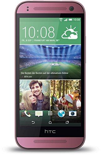 Tmobile Pink Handys (HTC One Mini 2 Smartphone (11,4 cm (4,5 Zoll) Touchscreen, Qualcomm Snapdragon 400, 1,2GHz Quadcore, 5 Megapixel Kamera, Nano-SIM, Android) pink)