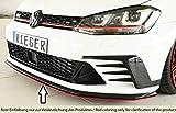 Rieger Frontspoilerschwert schwarz matt für VW Golf 7 GTI Clubsport: 02.16-
