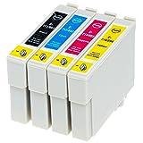 AfiD 4er Set Druckerpatronen zu EPSON T0711 - T0714 für Epson Stylus SX 115, Epson Stylus SX 200, Epson Stylus SX 205, Epson Stylus SX 210, Epson Stylus SX 215, Epson Stylus SX 218, Epson Stylus SX 400, Epson Stylus SX 400, Epson Stylus SX 405 und mehr!