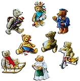 Kühlschrankmagnete Nostalgie Bär Magnete für Magnettafel Kinder stark 8er Set Tiere lustig mit Motiv Vintage Teddy Bären
