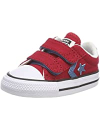 Converse Star Player 2v Ox Gym Red/Aegean Storm, Zapatos Unisex Bebé