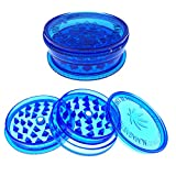 PLASTIC HERB AND TOBACCO MAGNETIC GRINDER 3 PART ASSORTED (BLUE) Best Review Guide