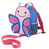 Skip Hop Rucksack, für Kinder, mit Leine, Sicherheitsleine, mehrfarbig, Schmetterling Blossom