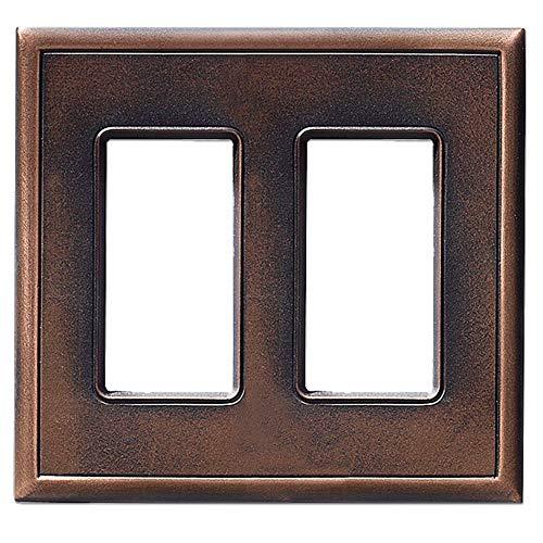Double Switch Wall Plate (GFCI Schalterplatten und Wandplattenabdeckungen, Metall, magnetisch, keine sichtbaren Schrauben Double Decorator GFCI Oil Rubbed Bronze)