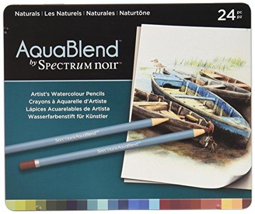 Spectrum Noir - Buntstifte aus der Reihe Aquablend in Natürlichen Farben, Mehrfarbig, Packung mit...