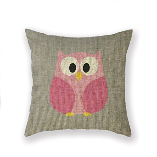 WITHY Decorative Throw Pillow Case Cushion Cover Love in a Daze of Owls,Cover Size:16 x 16 Inch(40cm x 40cm)