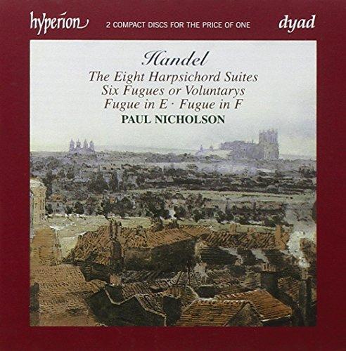 Les Huit Suites pour clavecin (HWV426 à 433) - Six Fugues (ou Voluntarys) pour orgue ou clavecin (HWV 605-610) - Fugues HWV 611 & 612 / Paul Nicholson, clavecin (2 CD pour le prix d'un)