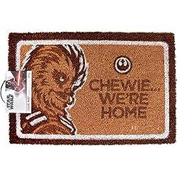 STAR WARS Chewie. Estamos en casa Felpudo   Mercancía Oficial (One Size)