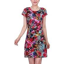 Vestido con Estampado de Flores Multicolor Vestidos de Fiesta para Bodas Vestidos de Cóctelpara Mujer
