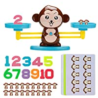 Rolling Monkey Balance Toy, Digital Addition and Subtraction Game Intelligence Test Puzzle Monkey Balance Game Scale Early Learning Weight Child Kids Intelligence Toys