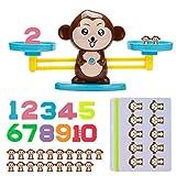 Vintoney Affen Balance Spielzeug Tierwaagen Mathepädagogische Spielwaren Tisch Rechnen Lernspiel Zahlen Denkspiel Spaß Bildungs Geschenk für Kinder Mädchen Jungen