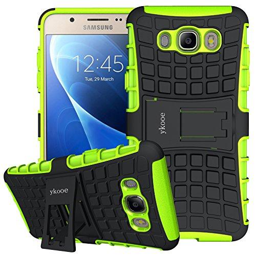 Galaxy J7 Hülle (2016), ykooe (TPU Series) Samsung J7 Dual Layer Hybrid Handyhülle Drop Resistance Handys Schutz Hülle mit Ständer für 2016 Samsung Galaxy J7 [5,49 Zoll] Grün