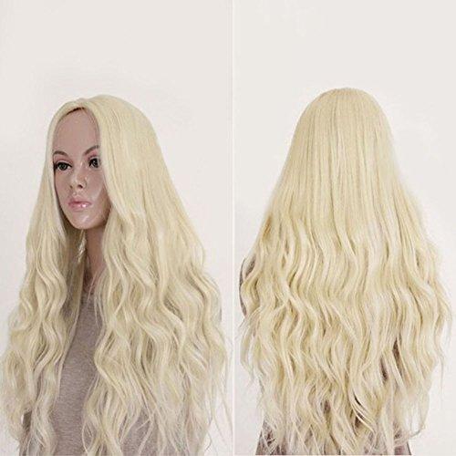 isch Perücken für Frauen Natürlich Wellig Blond Synthetisches Haar Lange Weich Haar (Einfache Minimal Halloween Kostüme)