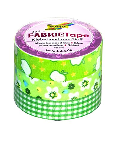 Folia 27305 - Fabric Tape, 3-er Set, grüntöne